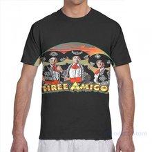 Os três amigos dos homens camiseta feminina por todo o lado da cópia da menina da forma t camisa menino topos t camisas de manga curta