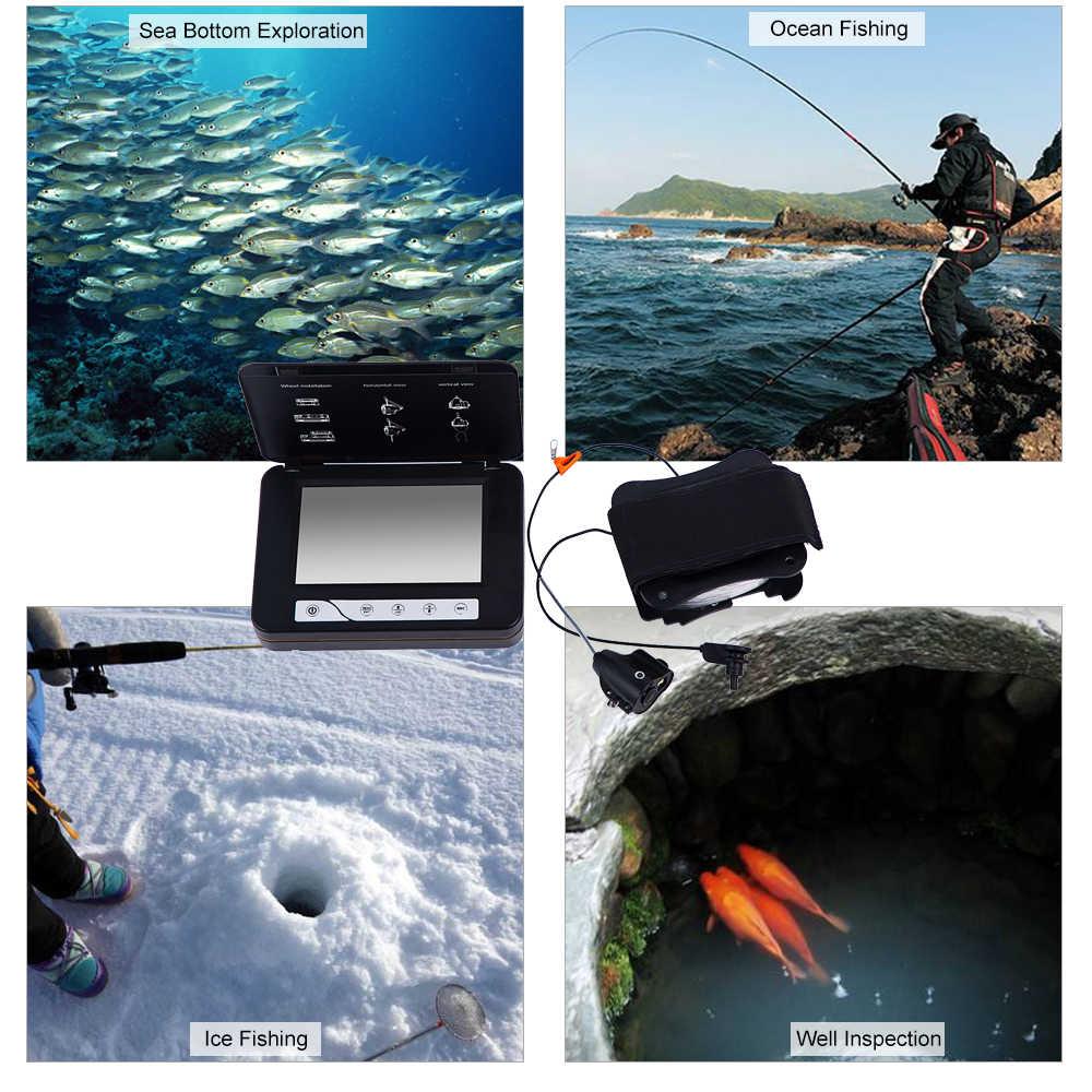 30 M/15 M MÀN HÌNH LCD 5 Inch Họa Tiết Cá Dưới Nước Băng Camera Hồng Ngoại & Đèn LED Trắng ĐẦU GHI HÌNH HD Hồng Ngoại Camera