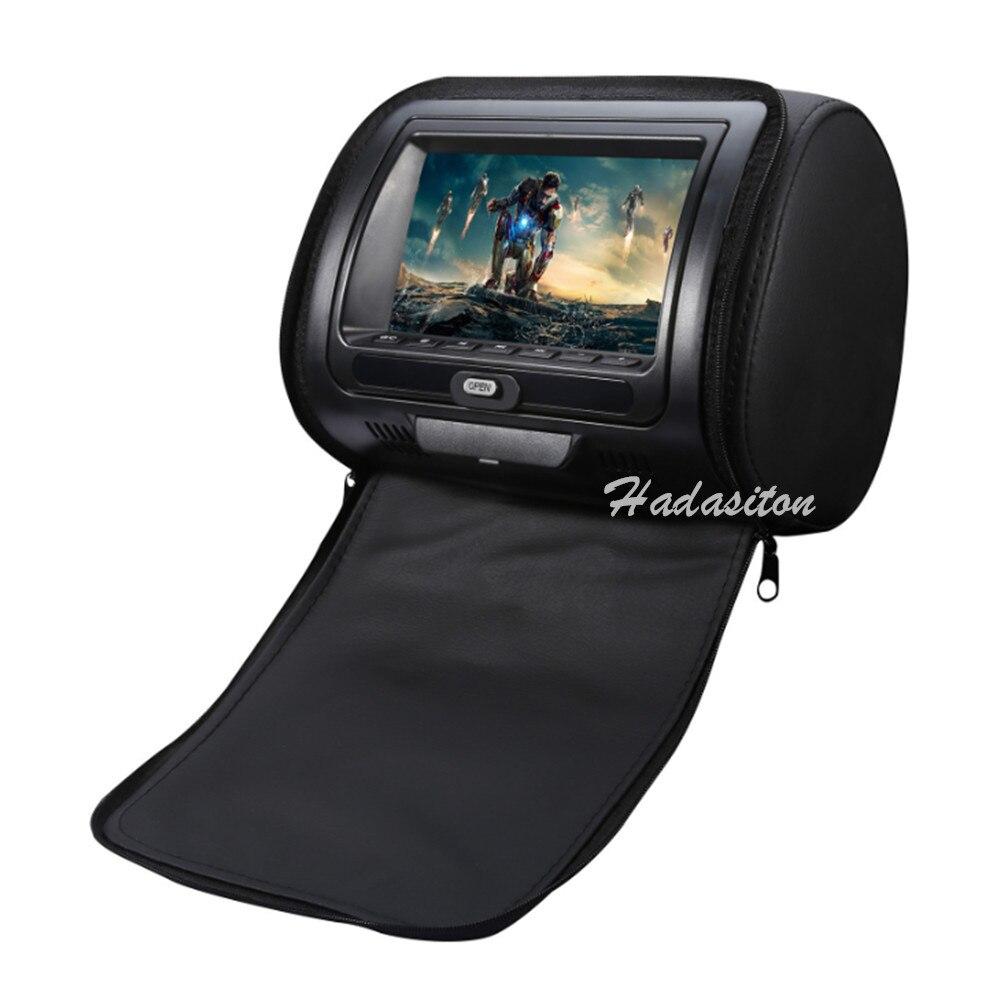 Универсальный 7-дюймовый экран, Автомобильный подголовник, DVD MP5 плеер, монитор подушки, поддержка CD/VCD/DVD/AV/USB/SD/FM/IR/Speaker/беспроводной игры