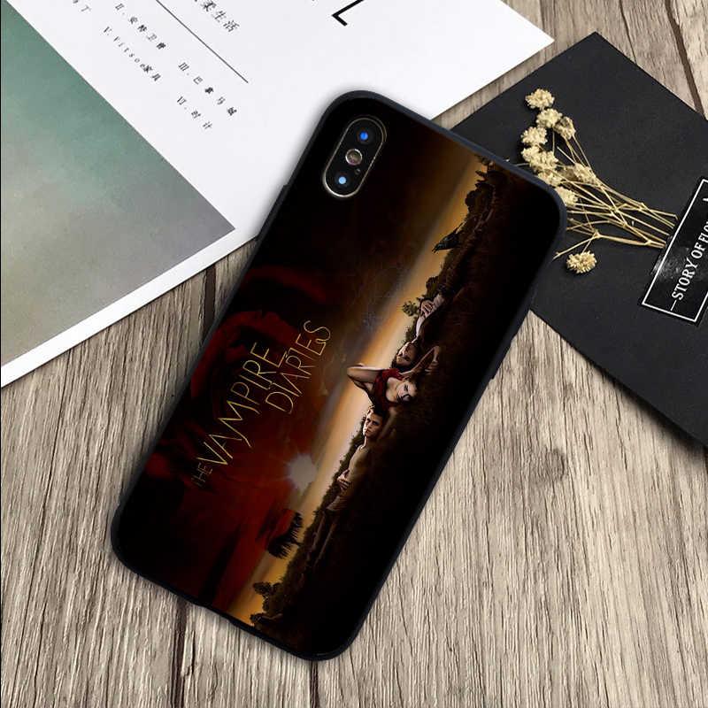 Ma Cà Rồng Nhật Ký Bao Da Silicone Mềm Đen Ốp Lưng Điện Thoại Iphone 5 5S SE 6 6 Plus 7 8 Plus X XR XS Max 11 Pro Max