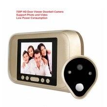 3.2 Inch Color Screen 720P HD Smart Peephole Viewer Visual Doorbell  Camera