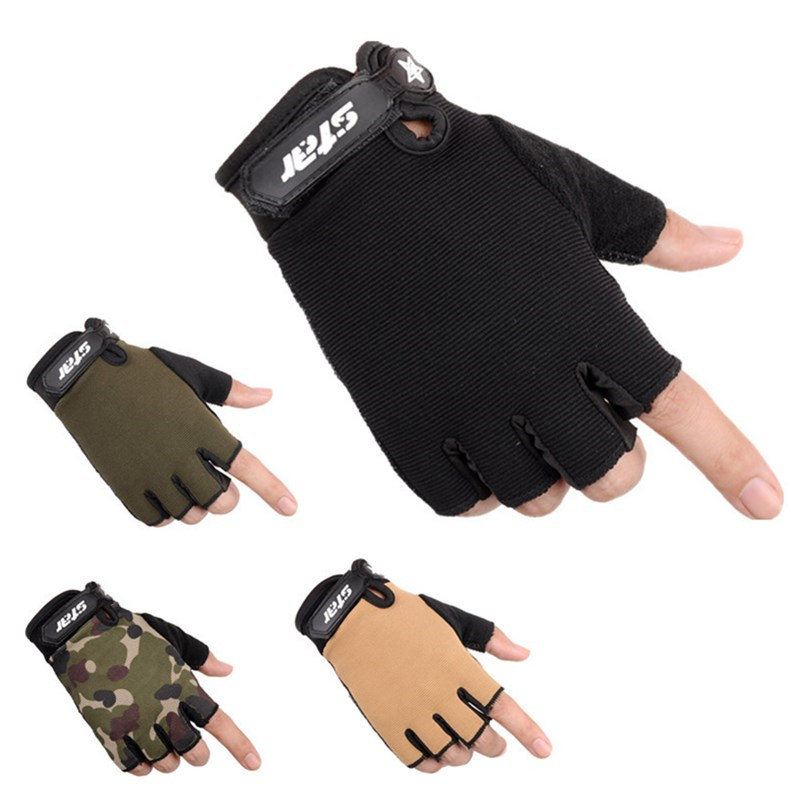 Howfits Men Women Kids Outdoor Tactical Gloves Special Army Half Finger Fingerless Military Shooting Mittens
