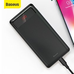 Baseus 10000mAh Power Bank Dual USB Charger With Digital Display Outputs Portable External Battery Powerbank Charging For Phone