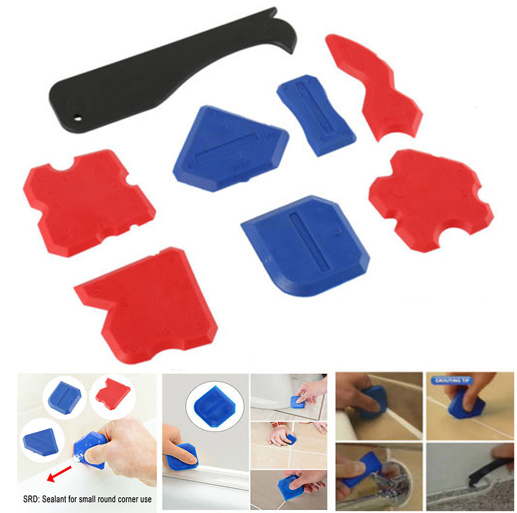 30^8Pcs/Set Sealant Spatula Caulking Tool Kit Joint Silicone Grout Remover Scraper Best Selling Dropshipping 2020 New Arrivals