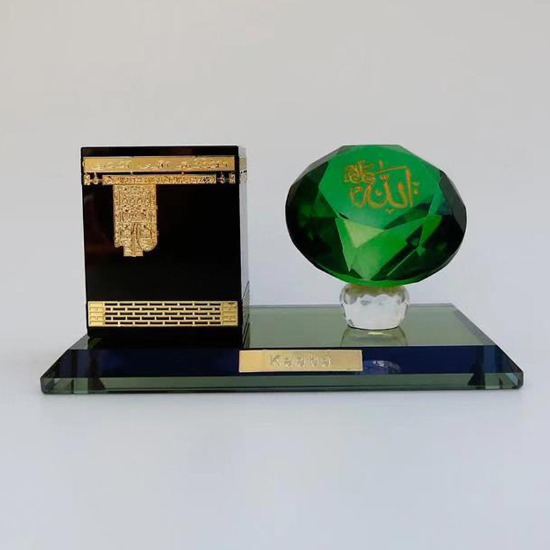 2020 Eid Mubarak Muslim Supplies Ramadan Decoration Crafts Islamic Decor Crystal Kaaba In Mecca Haji Arab Handicrafts Souvenirs