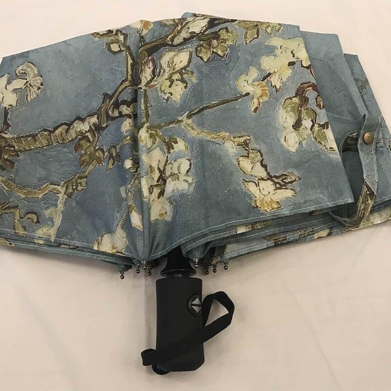 جيسي كام الإبداعية فان جوخ النفط اللوحة مظلة الطباعة التلقائي مظلة قابلة للطي amazon EBAY حار نمط مظلة-في مظلات من المنزل والحديقة على  مجموعة 2