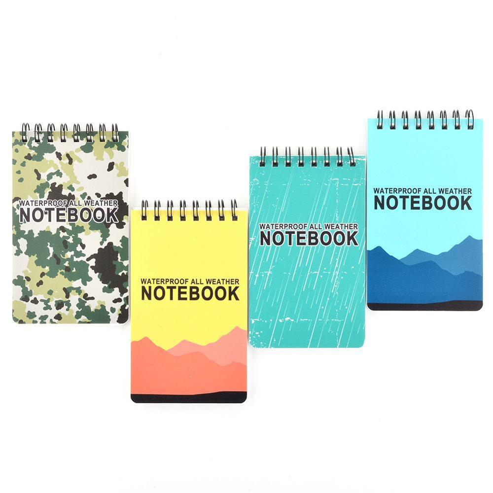 Waterproof Spiral Notebook All Weather Paper Outdoor Rain Notepad 126x76mm New Notebook For Office School Students Supplies