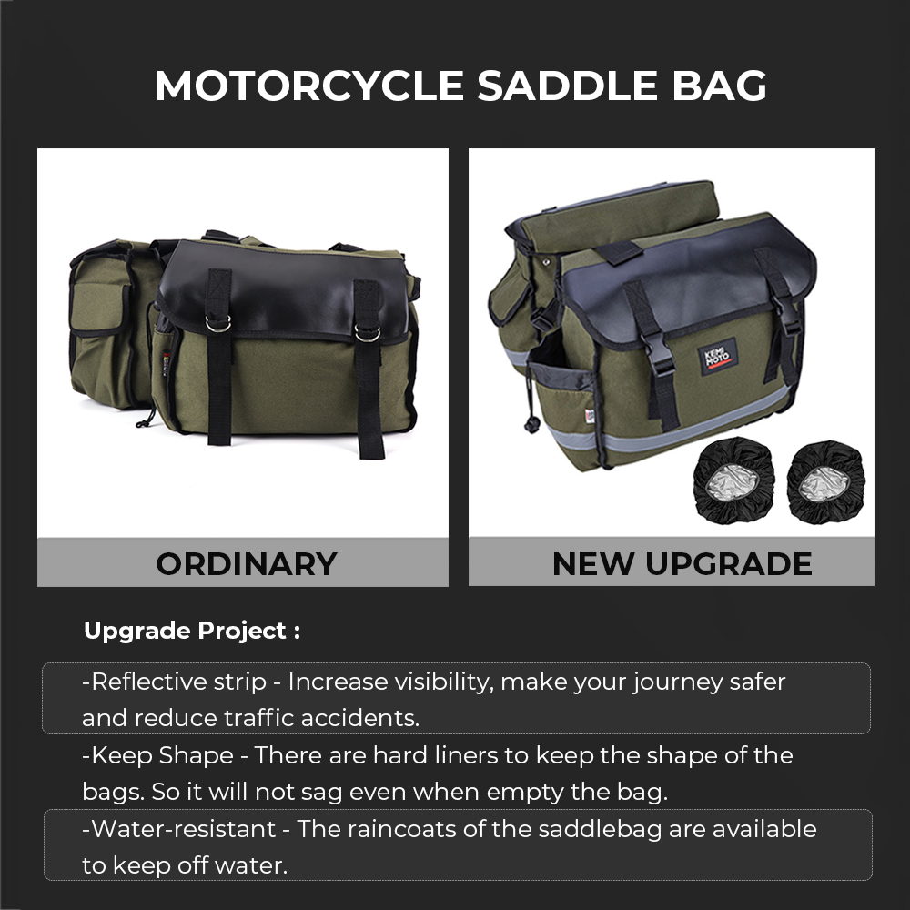 Image 2 - Motorcycle Tool Bag Saddle Luggage Bags For Touring Road King Electra STREET Glide Softail BREAKOUT Sportster 883 1200