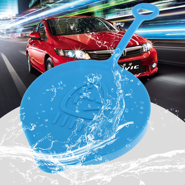 55mm Car Windshield Wiper Washer Fluid Reservoir Tank Bottle Cover For Honda CR V/Civic/Accord/CRX Etc Plastic Car Accessories