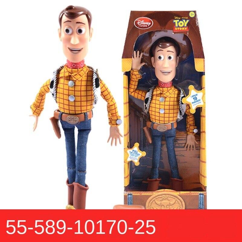 Disney juguete historia 4 hablando Woody Buzz Jessie figuras de acción, muñecos colección de decoración de Anime figura de juguete para el regalo de los niños