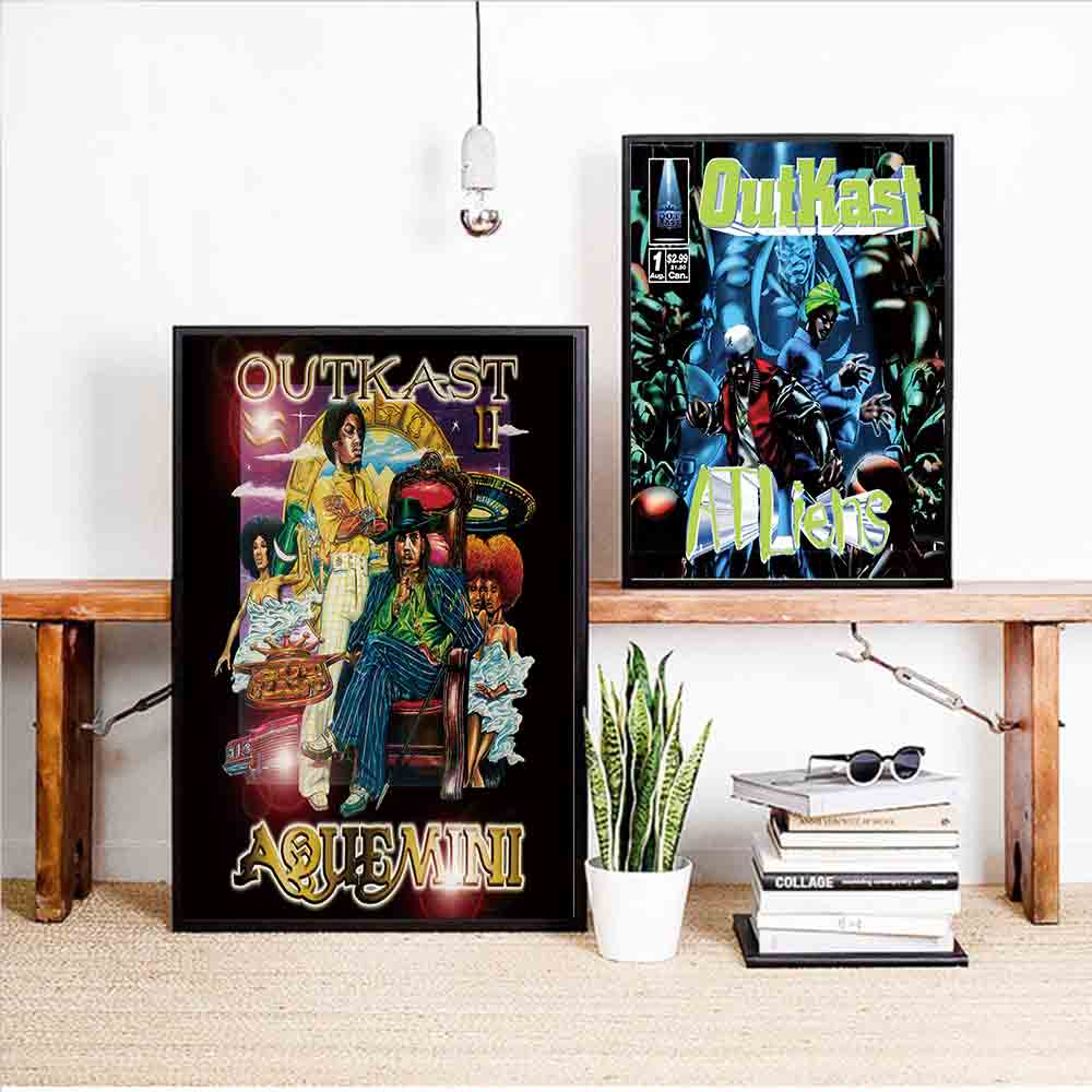 D276 Music Album Hip Hop Outkast singer star Art Silk Poster Decoration Print canavas wall Pictures 24x36 27x40 image