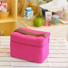 4 цвета, деловая походная офисная маленькая Термосумка для еды, практичная сумка для обеда, сохраняющая тепло, для домашнего пикника, Студенческая коробка для бэнто