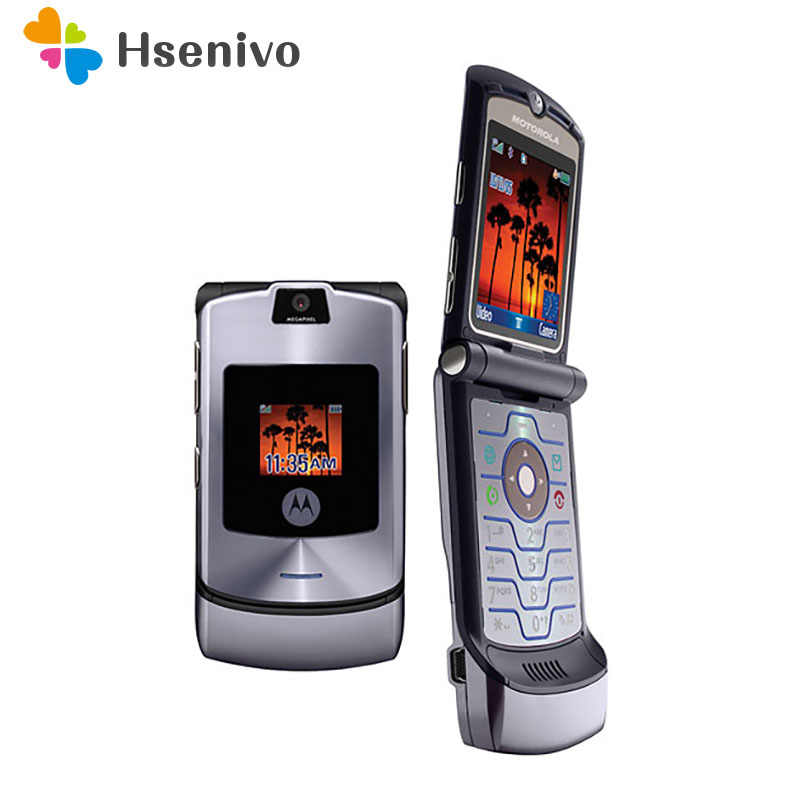 Motorola RAZR V3i 100% ORIGINAL UNLOCKED Mobile Phone GSM Flip Bluetooth Phone One Year Warranty Free shipping