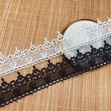 Polyester lace unilateral fine embroidery womens fabric home soft decoration manual accessories new products