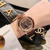 Dames horloges Frauen Uhren 2019 Neue Luxus Marke Armband Frau Uhr Frauen Kleid Quarz Uhr Damen Lederband Uhr Stunde