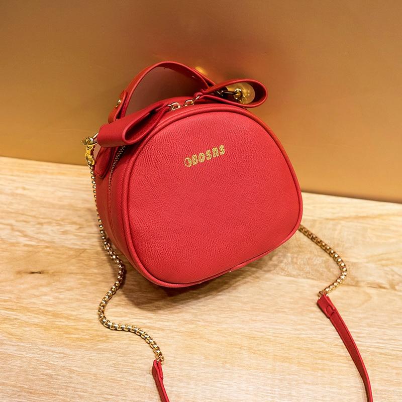 2019 new trendy Korean version of the versatile cross-body fairy bag summer new small round bag mini chain bag