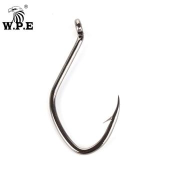 W.P.E Brand Fishing Hooks 3packs/lot Catfish Hooks High-Carbon Steel 2/4/6/8/10/12# Sharp Barbed Fishing Hooks Fishing tackle 5 in 1 anti winding sharp fishing hooks golden red 2 pcs