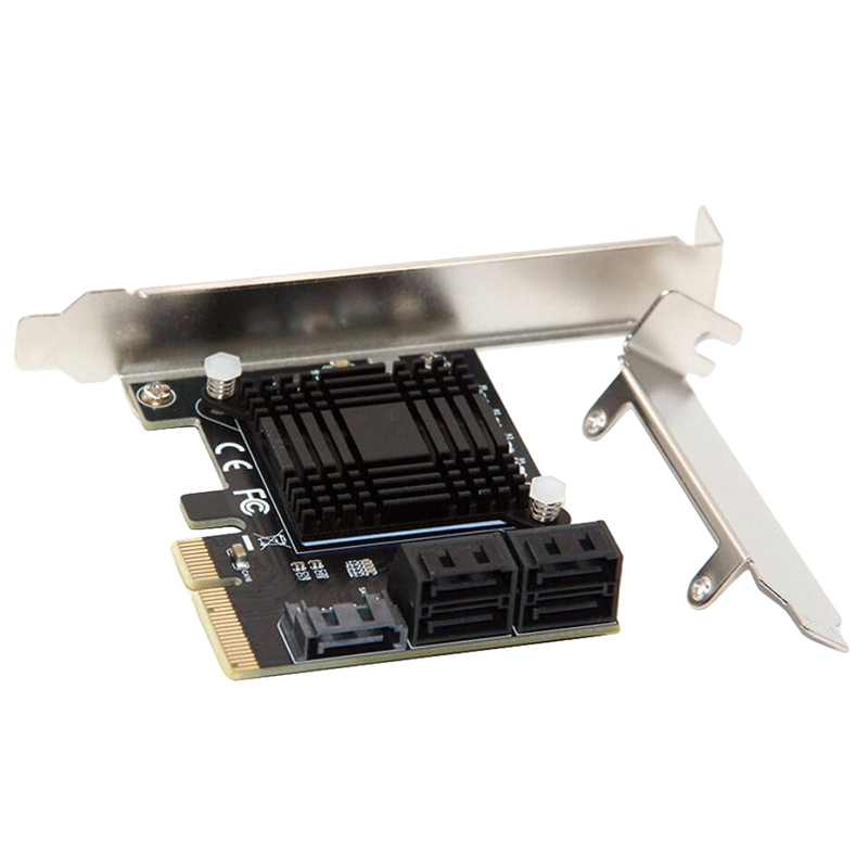 PCIE To 5-Port SATA3.0 Expansion Card Computer Chassis Adapter Card JMB585 Chip