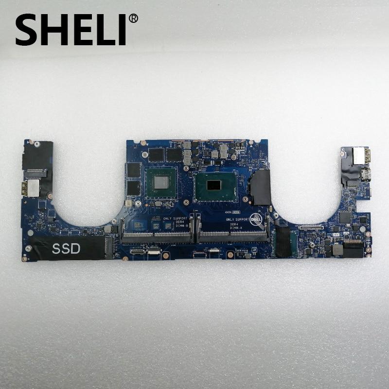 SHELI FOR Dell Precision 5510 Motherboard WVDX2 0WVDX2 CN-0WVDX2 DDR4 LA-C361P With I7-6820HQ CPU & M1000M GPU