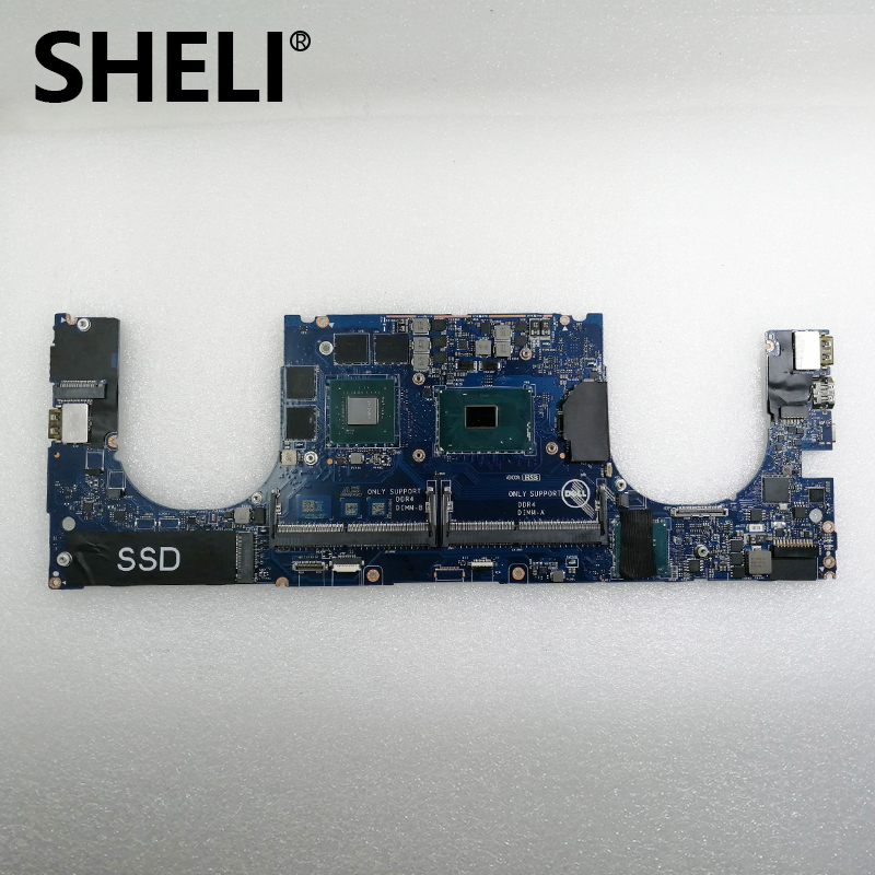 SHELI FOR Dell Precision 5510 Laptop Motherboard WVDX2 0WVDX2 CN-0WVDX2 LA-C361P With I7-6820HQ CPU & M1000M GPU 100% Test Ok