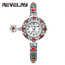 Часы хрустальные женские кварцевые с красным браслетом 2019