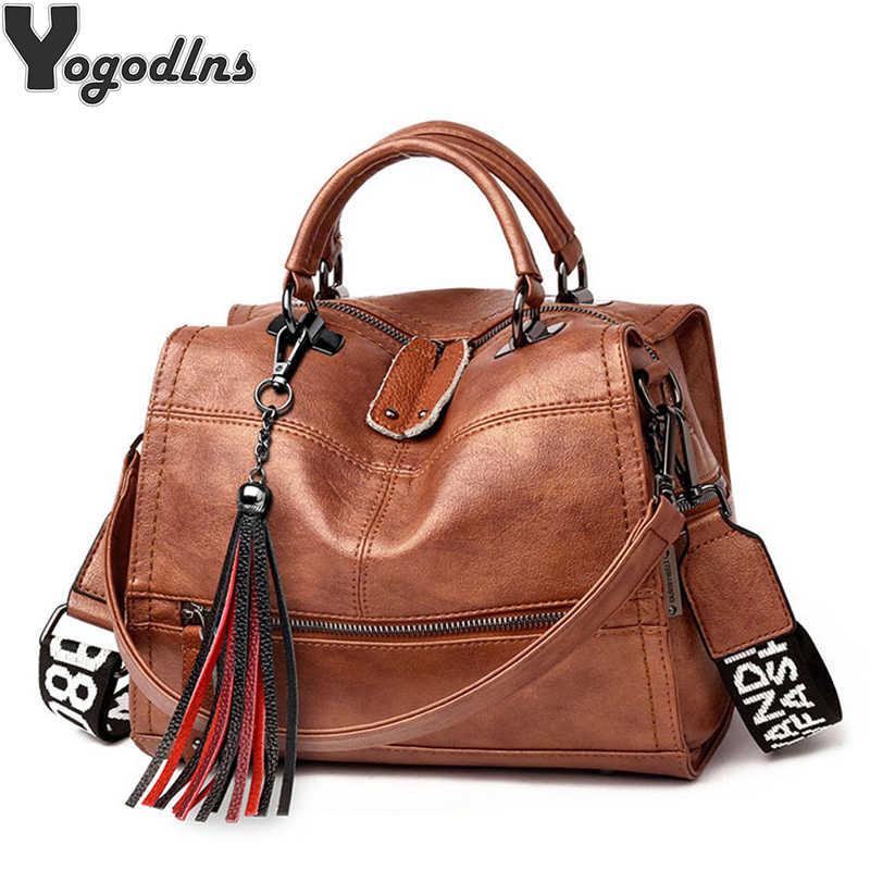 Bolsas femininas do vintage senhoras mensageiro ocasional sacos de alta qualidade feminina crossbody bolsa ombro boston design borla totes