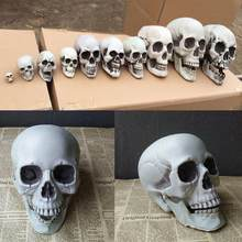 Halloween Decorations Artificial Skull Head Model Plastic Skull Bone Scary Horror Skeleton Party Bar Ornaments Statues(China)