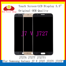 10Pcs/lot Original LCD For Samsung Galaxy J7 V J727 J727V J727P LCD Display Touch Screen Digitizer Assembly Replacement J727A for samsung galaxy alpha g850 lcd display touch digitizer assembly free dhl ups ems black gray white hq 100% warranty 10pcs lot