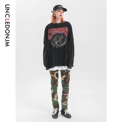 UNCLEDONJM 2019 Streetwear Women T Shirt Long Sleeve Harajuku Tshirt Hip Hop Print T-shirts Autumn Causal Tops Tees Tops 571W Lahore