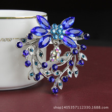 Explosion models new ladies brooch Korean version of the colorful fashion beautiful rhinestone pin scarf clip jewelry