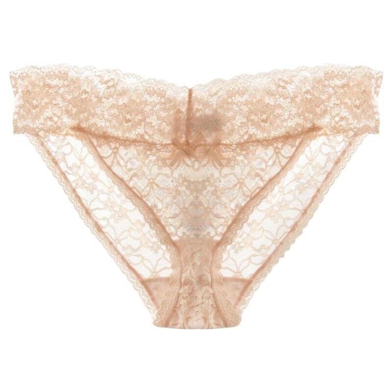 Ladies Womens 3 Pair Women Midi Knickers Underwear Multi Coloured Lace Trim Cott