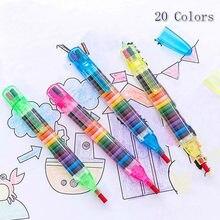 1PCS 20 Kleuren Kinderen Schilderen Speelgoed Wax Crayon Baby Grappige Creative Educatief Oliepastels Kinderen Graffiti Pen Art Gift
