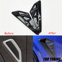 Gloosy Black Side Fender Air wing Vent Trim For BMW X5 G05 2018 2019 2020 Upgrade X5M Car decoration Accessories