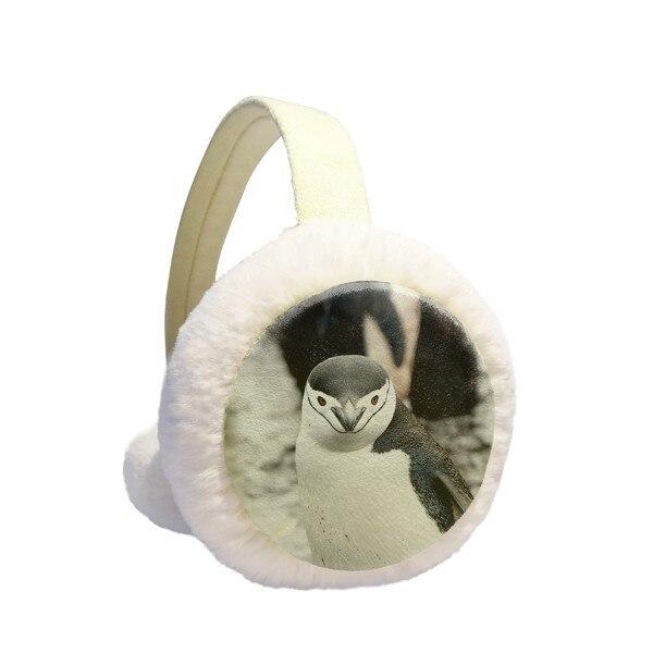 Terrestrial Organism Wild Animal Penguin Winter Earmuffs Ear Warmers Faux Fur Foldable Plush Outdoor Gift