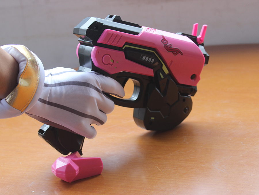 Overwatch D.Va Gun Headphone for Cosplay Weapon Hana Song D VA Prop Pistol Headset Accessories for Halloween Christmas Gift DVA 3
