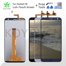 For 640*1280 Oukitel C8 LCD Display+Touch Screen Screen Digitizer Assembly Repair Parts+Tools +Adhesive LCD Glass Panel for C8 8 4inch lcd panel with screen double lamp control in the 640 480 aa084vc03 lcd screen