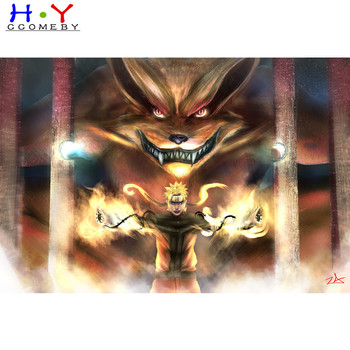 5D DIY diamond painting cartoon Anime Naruto AND KURAMA diamond embroidery rhinestone cross stitch painting diamond Home decor image