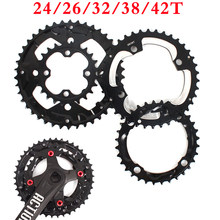 Double/Triple MTB Chainring 104/64BCD Aluminum Crankset 24t 26t 32t 38t 42t Bike Chain Ring 3*10s 2*10s Crank Set Cycling Parts