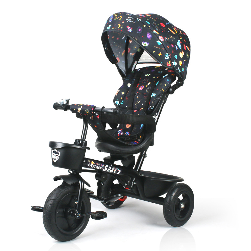 NEW Child Tricycle Baby Portable Rotatable Trike Baby Multifunctional Bicycle Three Wheel Bikes