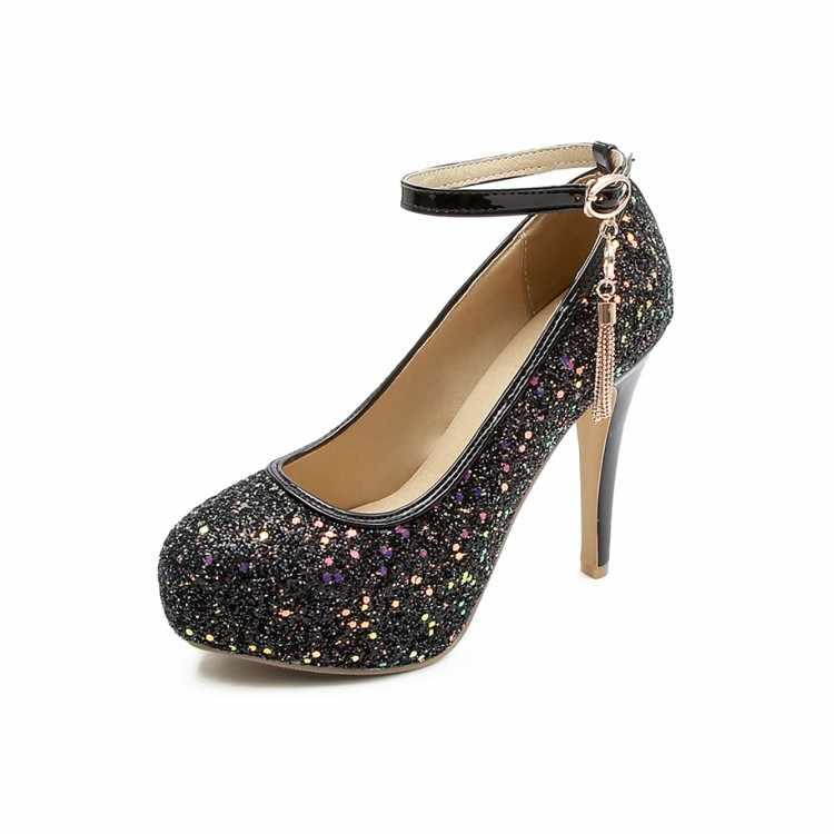 Big Size Fashion Sequin high heels
