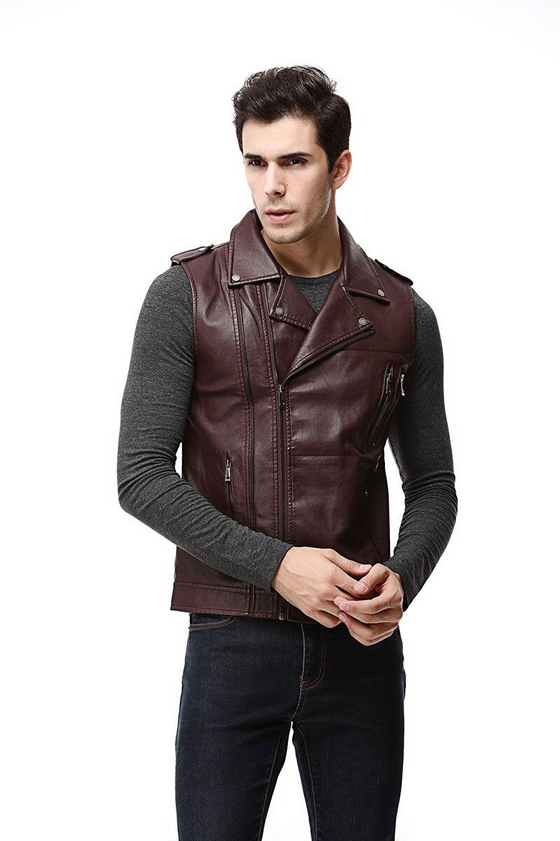 Top-Coat Concealed Biker-Vest Motorcycle Brown Black Mens Winter Fleece for Military-Green