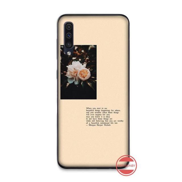 Flower Rose Vintage Customer High Quality Phone Case For Samsung A20 A30 30s A40 A7 2018 J2 J7 prime J4 Plus S5 Note 9 10 Plus