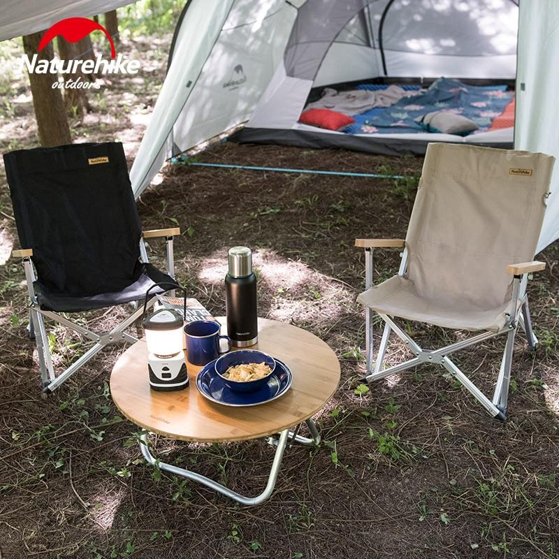 Naturehike Dobrável Cadeira Durável Portátil Camping Caminhadas Liga De Alumínio Pólo Encosto de Viagem Piquenique Ao Ar Livre Pesca NH19JJ004 - 5