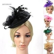 Женская винтажная шляпка в сеточку европейском стиле с цветами