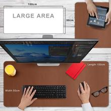 CENNBIE Extended Leather Gaming Mouse Pad/Mat, Large Office Writing Desk Computer Leather Mat Mousepad,Waterproof – 100x50cm