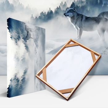 Natural Wood Frame For Canvas Oil Painting Poster DIY Wooden Picture Frames Wall Photo Frame Small / Big / Large Size Home Decor 100pcs paper photo frame set picture mats mini wooden clips string hanging cardboard picture frame for home room wall decor diy