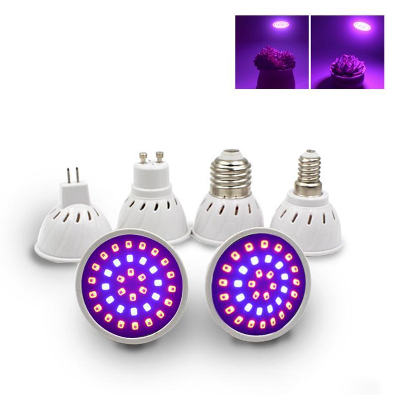 4W 5W Plant Grow Light Full Spectrum Hydroponic Plant Seed LED Light Bulbs E27 E14 MR16 GU10 Growing Lamps Bulbs 220V 110V
