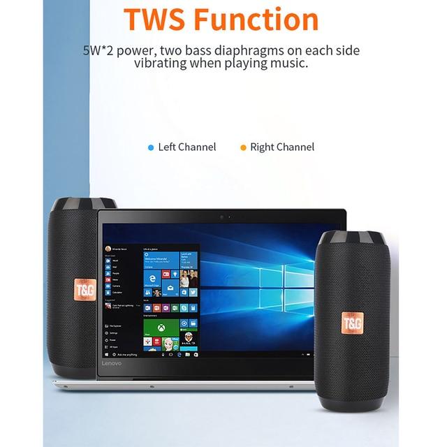 Outdoor Bluetooth Speaker Portable Bass Stereo Wireless Column Subwoofer Computer Speaker Support FM Waterproof Speakers 5