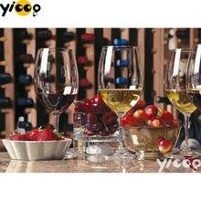 Полноразмерная/круглая алмазная живопись «Красное вино и фрукты»