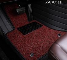 KADULEE Custom car floor mats for Skoda all models octavia fabia rapid superb kodiaq yeti car styling car accessories floor mat